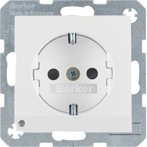 Berker S.1/B.3/B.7 - Розетка 2к+з SCHUKO с защитой контактов, полярная белизна