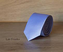 Галстук голубой узкий однотонный   Lan Franko. Арт.: GMUO024