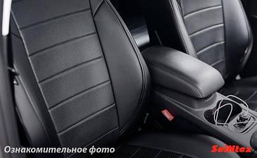 Чехлы салона Audi A4 2002-2007 цельная Эко-кожа /черные 86034