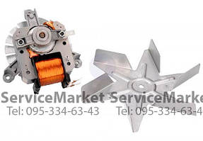 Мотор конвекции духовки Ariston C00078421 двигатель вентилятора Аристон