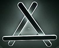 Светодиодная потолочаня LED люстра (10х51х51 см.) Матовый, белый YR-6206/3-wh