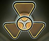 Светодиодная потолочаня LED люстра (10х56х56 см.) Белый матовый YR-9984/3+1