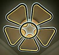 Светодиодная потолочаня LED люстра (10х62х62 см.) Белый матовый YR-9984/5+1