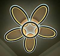 Светодиодная потолочаня LED люстра (10х62х62 см.) Белый матовый YR-9986/5+1