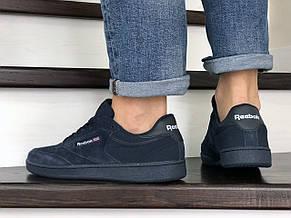 Мужские кроссовки Reebok,замшевые,темно синие, фото 2