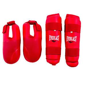 Защита для ног разбирающаяся (голень+стопа ) PU Everlast , красная, размер S, фото 2
