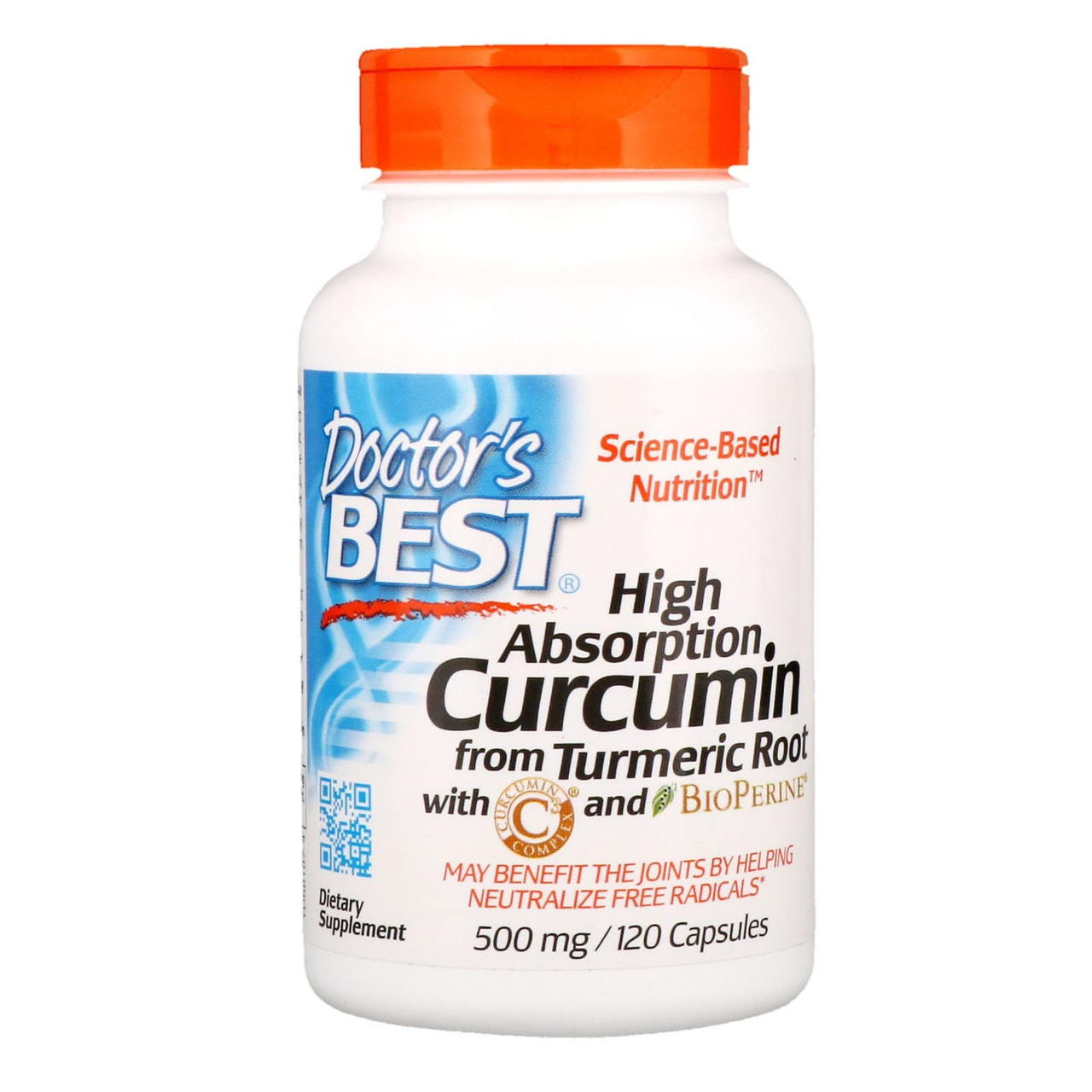 """Куркумін з биоперином Doctor's s Best """"High Absorption Curcumin"""" 500 мг (120 капсул)"""