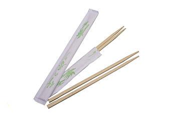 Палочки для суши бамбуковые в индивидуальной упаковке 21 см 100 шт/уп  (21055)