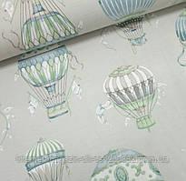 Водоотталкивающая ткань Duck воздушные шары на светло сером