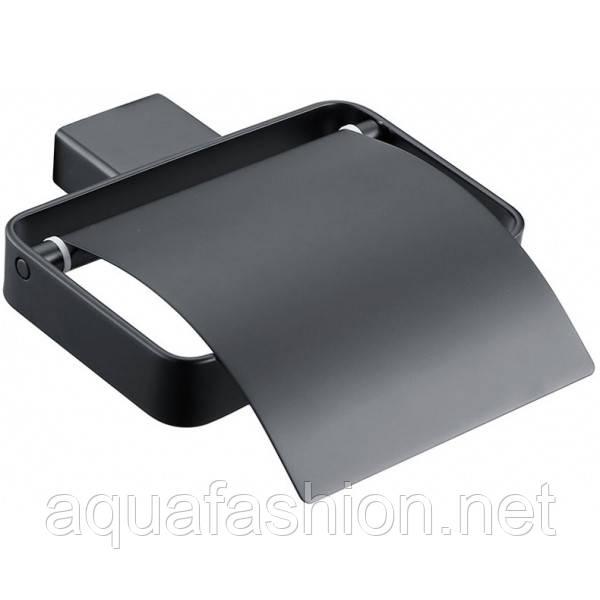 черный держатель для туалетной бумаги