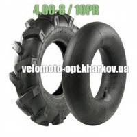 Покрышка 4.00-8 с камерой для мотоблоков, 10 PR (слоев)