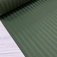 Сатин 100% хлопок  (ТУРЦИЯ шир. 2,4 м) Stripes цвет зеленый