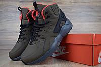 Мужские зимние кроссовки Nike Huarache высокие хаки
