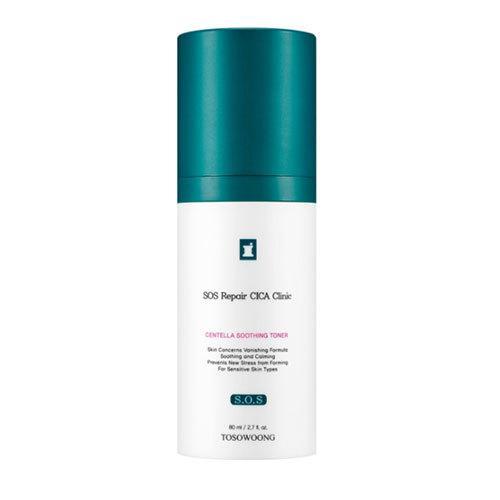 Успокаивающий тонер для лица на основе растительных экстрактов Tosowoong Cica Clinic Soothing Skin Toner 80 мл (8809179103961)