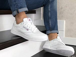 Мужские кроссовки Reebok,кожаные,белые, фото 2