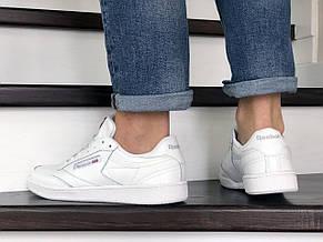 Мужские кроссовки Reebok,кожаные,белые, фото 3