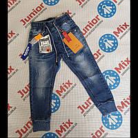 Детские джинсы на манжетах для мальчиков  оптом F&D