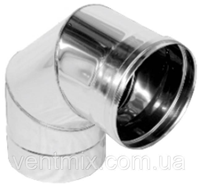 Колено 90* d 220 мм из нержавеющей стали (AISI 304) (0,6 мм)