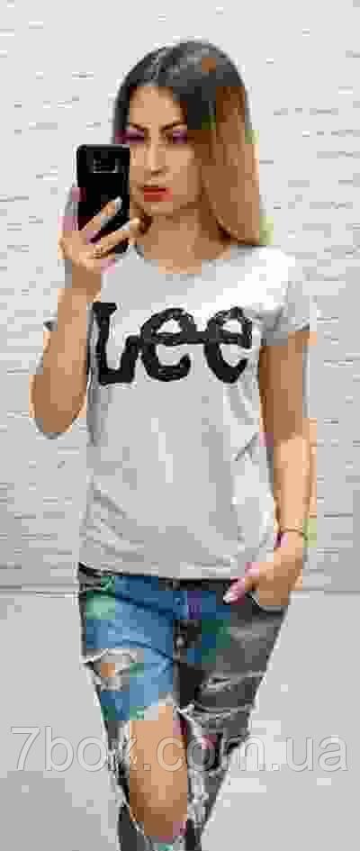 Футболка женская оптом реплика Lee s,m,l
