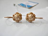 Золотые сережки  3.55 грамма  Золото 583* пробы, фото 1