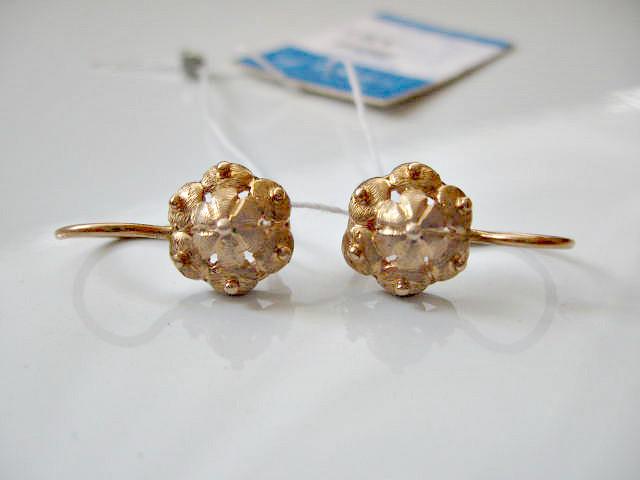 Золотые сережки  3.55 грамма  Золото 583* пробы