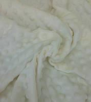 Плюшевая ткань Minky кремовый (Ecru) (плот 350 г/м.кв)