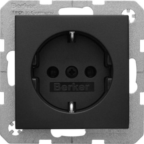 Berker S.1/B.3/B.7 - Розетка 2к+з SCHUKO с защитой контактов, антрацит