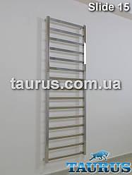Високий полотенцесушитель Slide 15/ 1550x450 мм. з особливим дизайном перекладин 30х10, з поворотом 30*