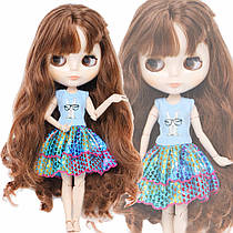 Летнее платье для куклы Блайз, Пуллип, Айси с кроликом. Одежда для Pullip, ICY