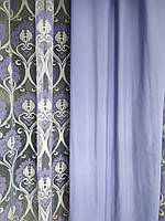 Плотные сиреневые шторы. Лён. Шторы в стиле Прованс