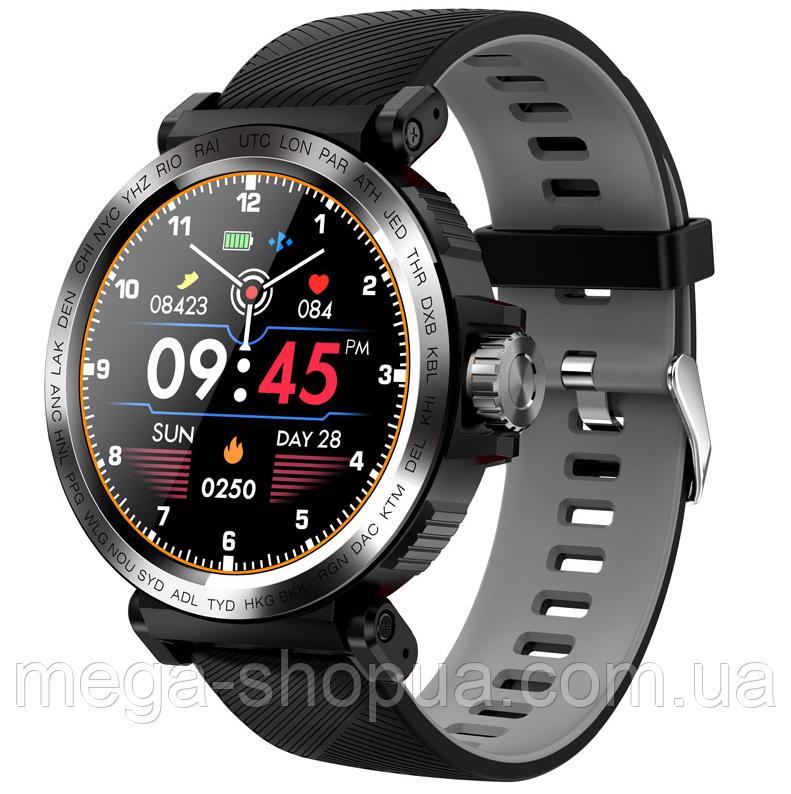 Сенсорные смарт-часы Smart Watch RS-17I Black & Gray, спорт часы, умные часы, наручные часы, фитнес браслет