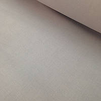 Хлопковая ткань польская серая однотонная