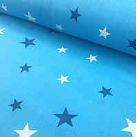Хлопковая ткань польская звезды к космосу