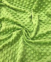 Плюшевая ткань Minky салатовый (плот .350 г/м.кв)
