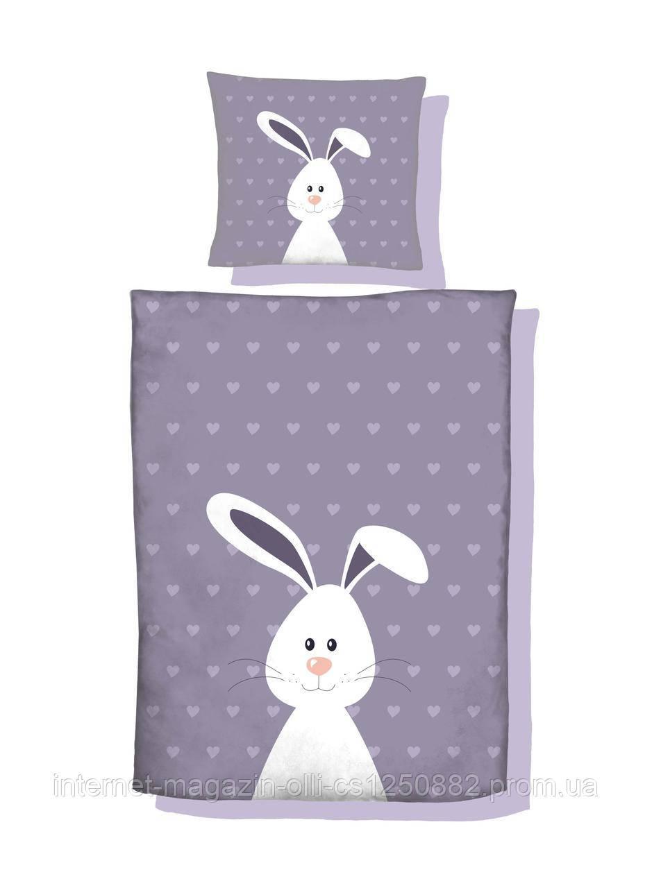 Панель хлопковая Кролик на фиолетовом  400*400 мм