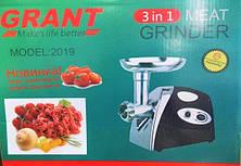Электромясорубка GRANT 2019 2400W | мясорубка с насадками CG14 PR5, фото 2