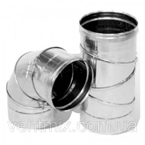 Колено d 130 мм 0 - 90* из нержавеющей стали