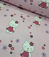 Фланель детская Hello Kitty на розовом №415, фото 1