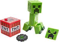 Фигурка Крипер с блоком тнт Майнкрафт Minecraft Core Comic Maker Creeper Figure Pack оригинал Mattel