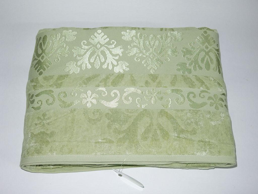 Простынь бамбуковая велюровая Cestepe Зеленая 200х220