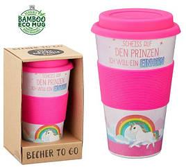 Кофейная кружка Единорог ToGoBecher 350ml Bambus EINHORN