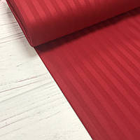 Сатин 100% хлопок  (ТУРЦИЯ) Stripes красный ОТРЕЗ (размер 0.3*1.8 м)