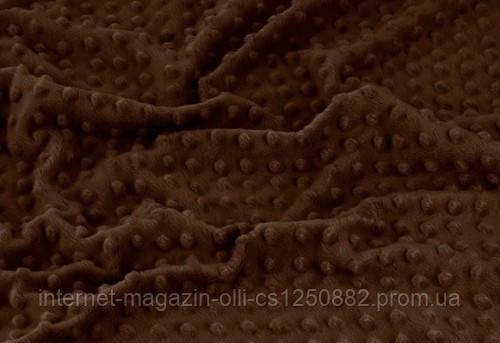 Плюшевая ткань Minky коричневый (плот. 350 г/м.кв)