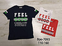 Футболки для мальчиков оптом, Glo-story, 110-160 см,  № BPO-7093, фото 1