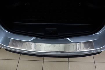 Накладка на задний бампер Dacia Logan MCV 2013-, FL 2016-, полированная сталь 35140