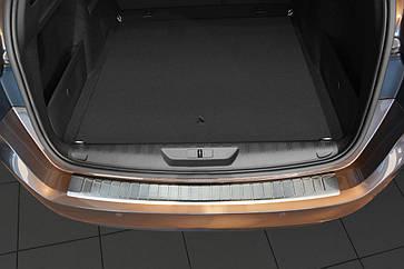 Накладка на задний бампер Peugeot 308 SW 2013 -, FL 2017-, полированная сталь 35123