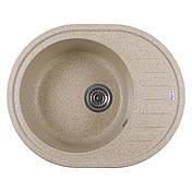Каменная мойка Ventolux MONICA (BROWN SAND) 620x500x200, фото 2