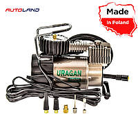Компрессор автомобильный с автостопом Uragan (Ураган)  90135  170W/37л/14А/R17-R13