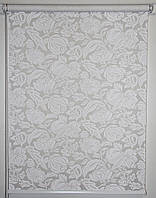 Готовые рулонные шторы Ткань Фантазия Белый 500*1500
