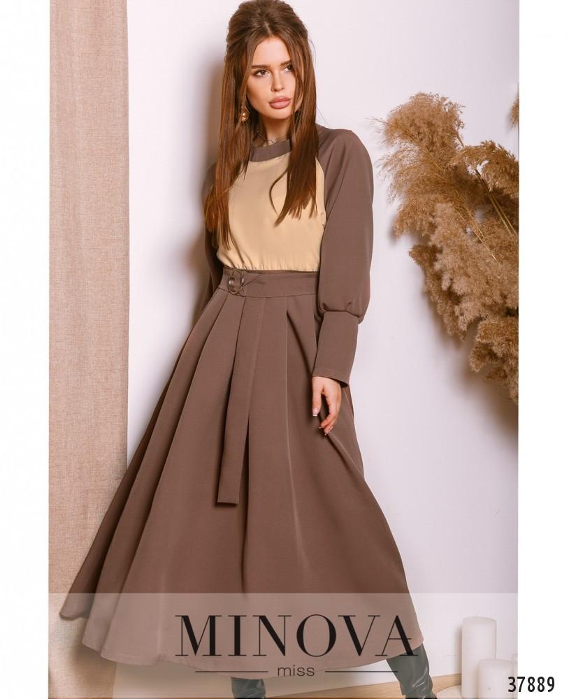 Нарядное женское платье с расклешенной юбкой 42-46рр.( 3 цвета)